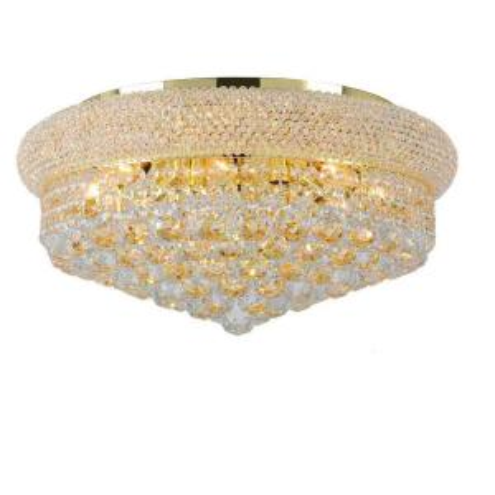 Worldwide Lighting Empire Collection 10-Light Crystal and Gold Ceiling Light by Worldwide Lighting