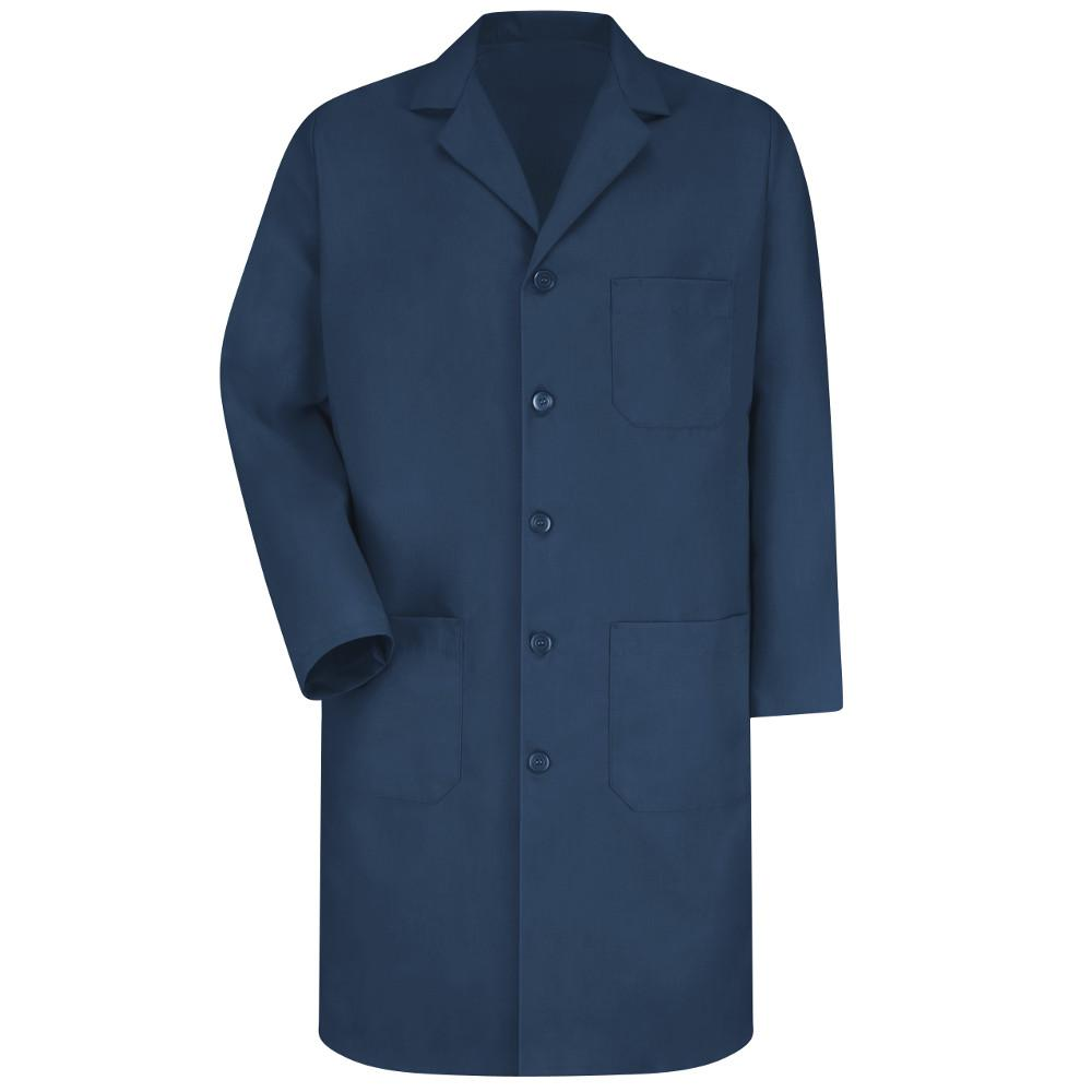 Men's Size 44 (Tall) Navy Lab Coat