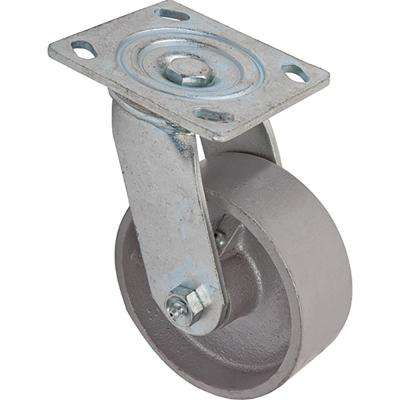 5 in. Cast Iron Swivel Caster with 700 lb. Load Rating