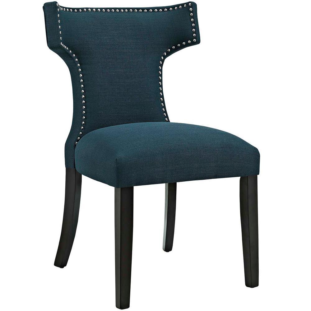 MODWAY Curve Azure Fabric Dining Chair EEI-2221-AZU