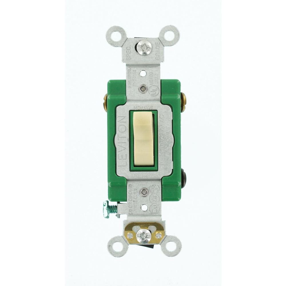 Leviton 30 Amp Industrial Grade Heavy Duty 3Way Toggle Switch