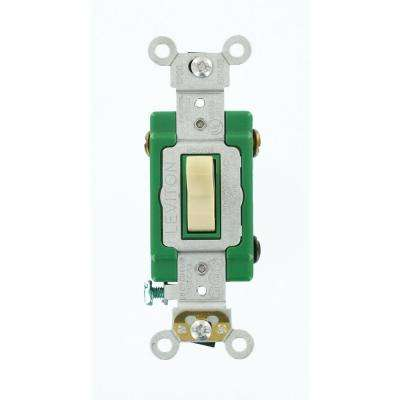 30 Amp Industrial Grade Heavy Duty 3-Way Toggle Switch, Ivory