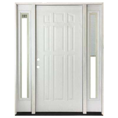 60 in. x 80 in. 9-Panel Primed White Right-Hand Steel  sc 1 st  The Home Depot & Blinds Between the Glass - Doors With Glass - Steel Doors - The Home ...