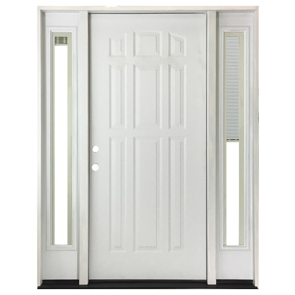 half door blinds. 64 In. X 80 9-Panel Primed White Right-Hand Steel Half Door Blinds N
