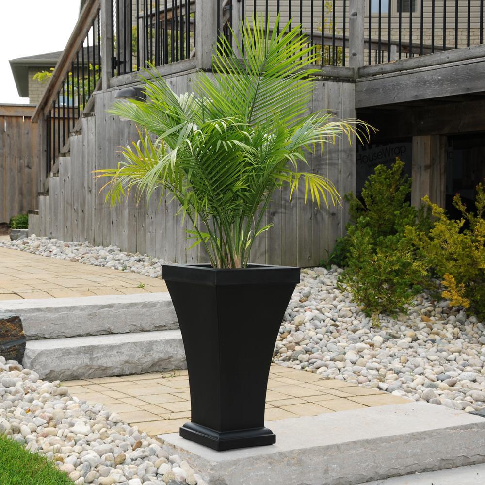 Black Plastic Tall Planter