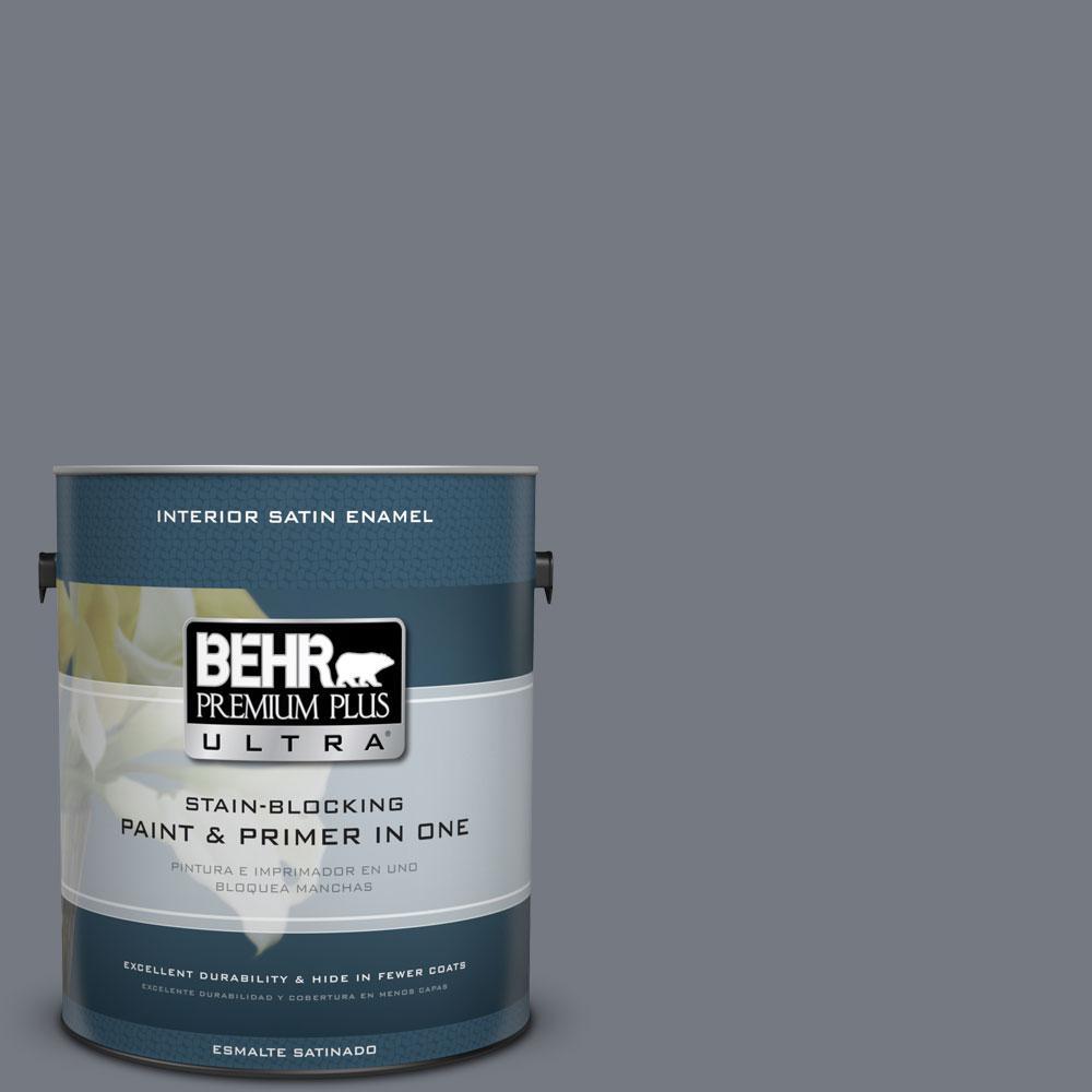 1 gal. #N510-5 Liquid Mercury Color Satin Enamel Interior Paint