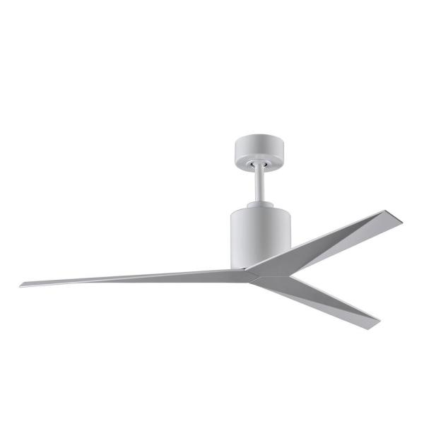 Eliza 56 in. Indoor/Outdoor Gloss White Ceiling Fan with Remote Control and Wall Control