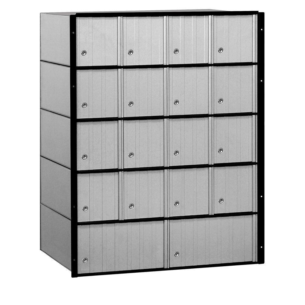 Salsbury Industries 2200 Series Standard System Aluminum Mailbox with 18 Doors