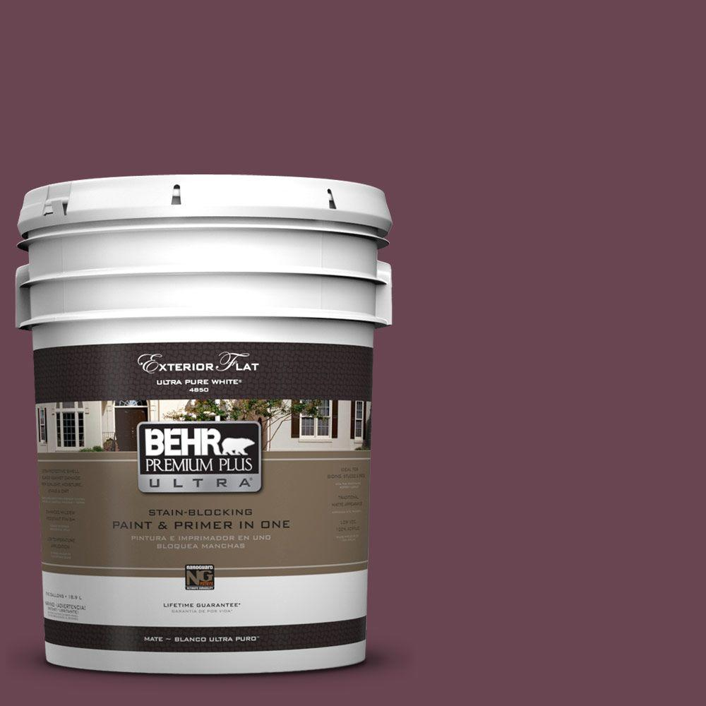 BEHR Premium Plus Ultra 5-gal. #UL100-21 Mixed Berry Jam Flat Exterior Paint