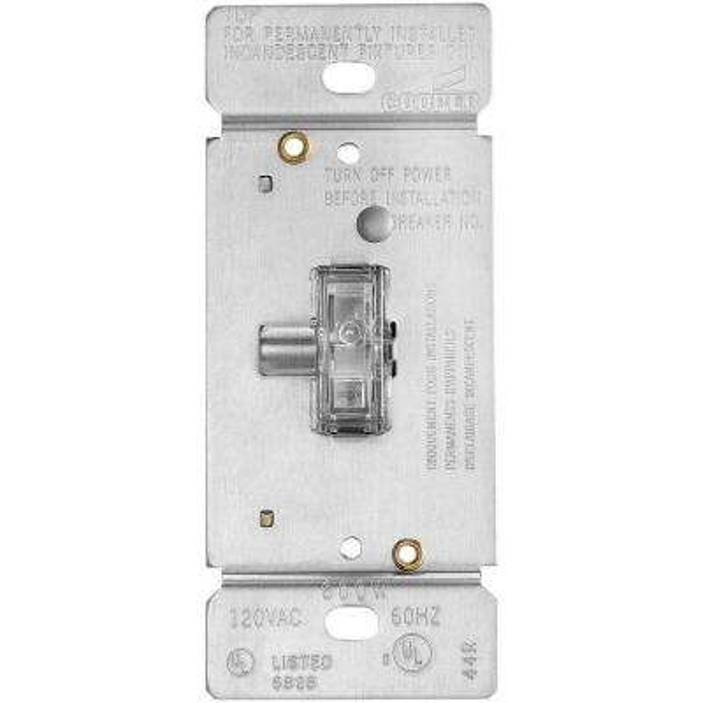 600-Watt Single-Pole 3-Way Lighted Incandescent/Halogen Dimmer - Clear