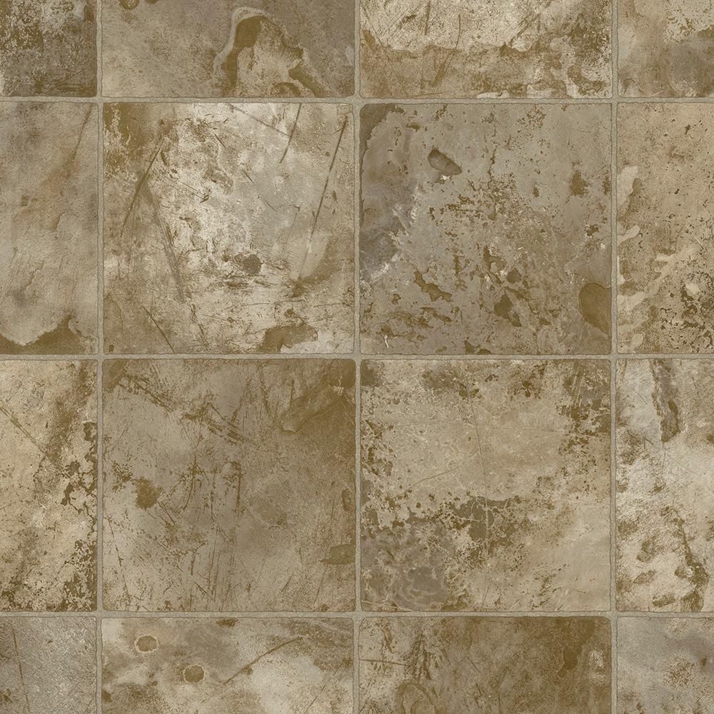 Take Home Sample -Winchester Brown Residential Vinyl Sheet Flooring - 6 in. x 9 in.