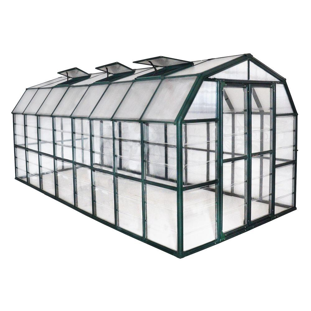 Rion Grand Gardener Clear 8 ft. x 16 ft. Greenhouse
