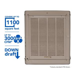 Champion Cooler 3000 CFM Down-Draft Roof Evaporative Cooler for 1100 sq. ft. (Motor Not Included) by Champion Cooler