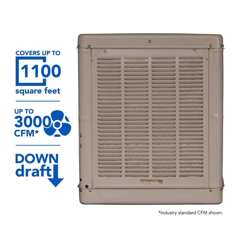 db5eb6bd4fc Champion Cooler 3000 CFM Down-Draft Roof Evaporative Cooler for 1100 ...