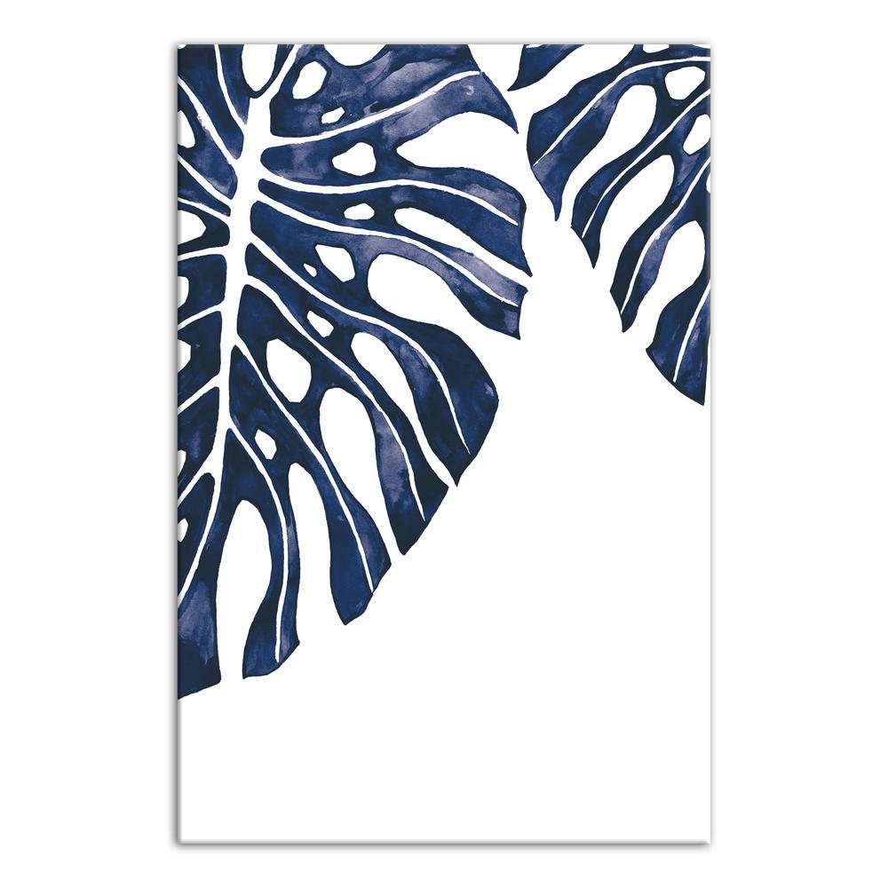 designs direct 16 in x 24 in tropical indigo leaves printed