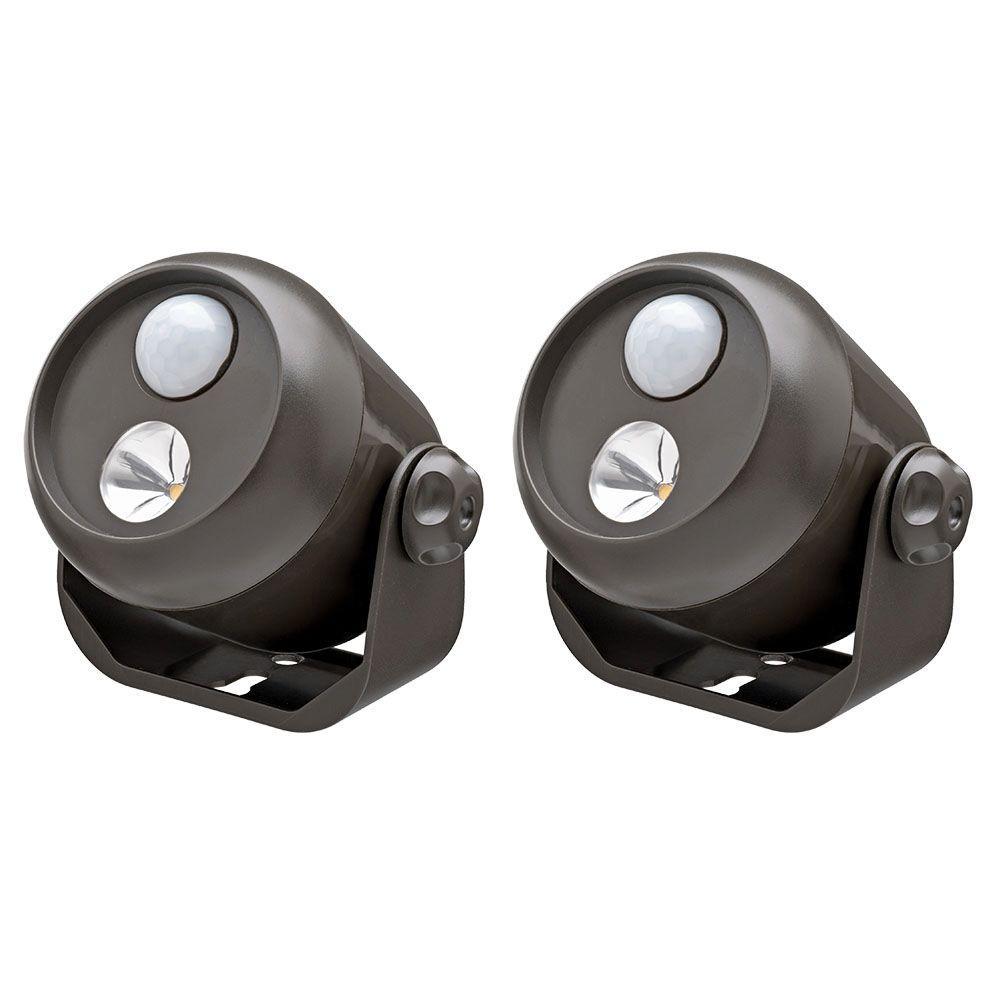 Brown Wireless Motion Sensing LED Spot Light (2-Pack)