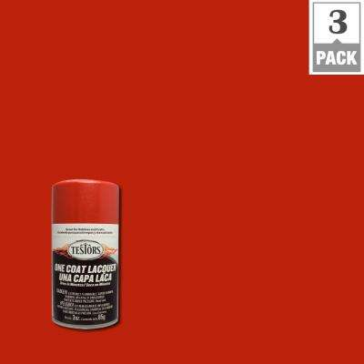 3 oz. Revving Red Lacquer Spray Paint (3-Pack)