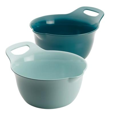 Tools and Gadgets 2-Piece Light Blue and Teal Nesting Mixing Bowl Set