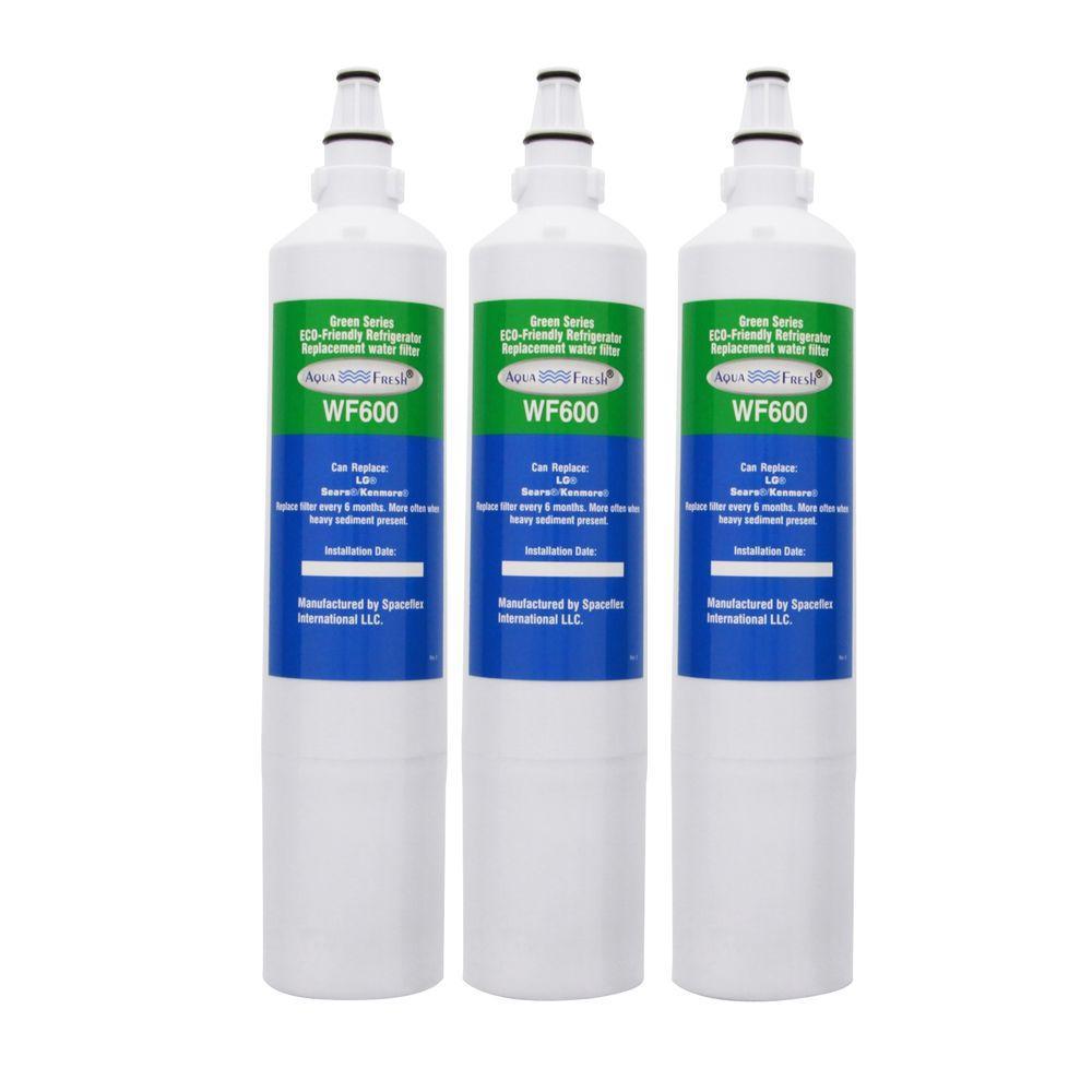 AquaFresh WF600 LG 5231JA2006A/LT600P Refrigerator Water Filter (3-Pack)