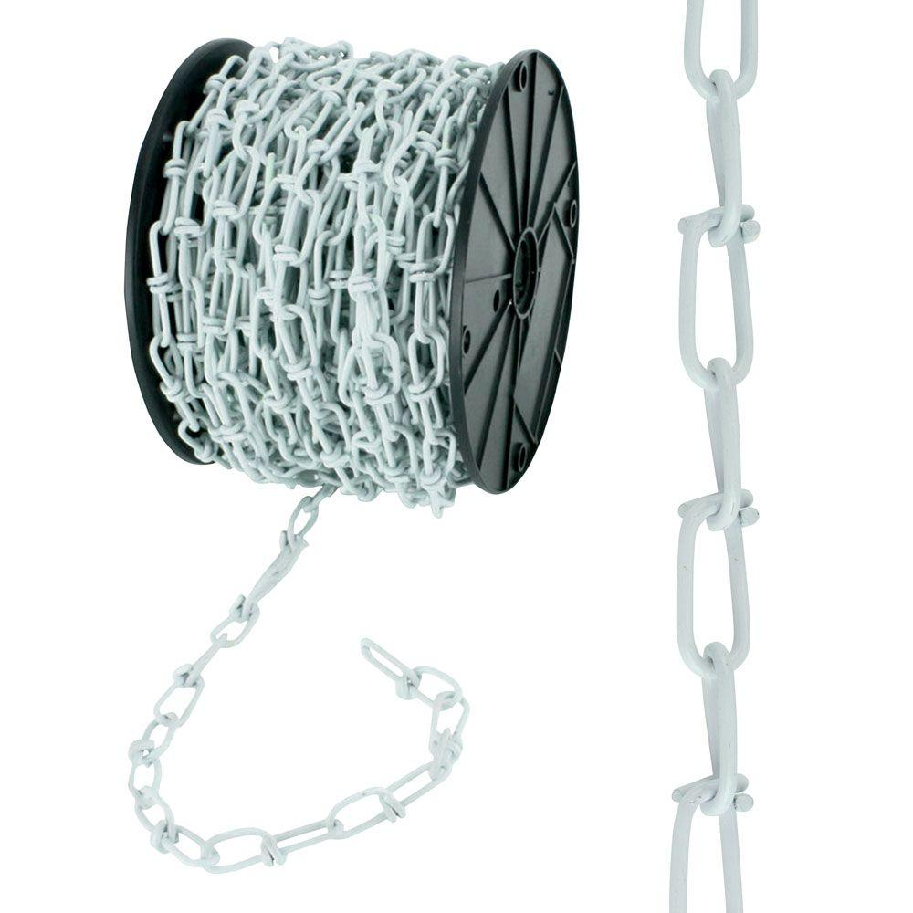 #3 x 200 ft. White Double Loop Chain