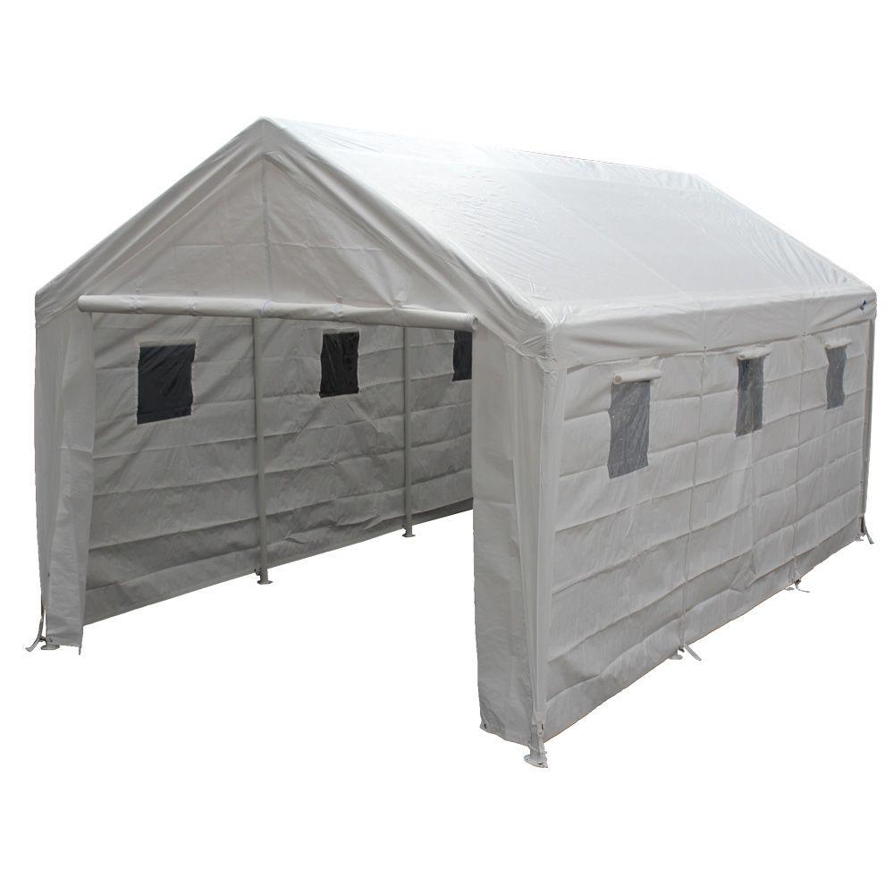 King Canopy 10 ft. W x 20 ft. D Steel Titan Storage Canopy
