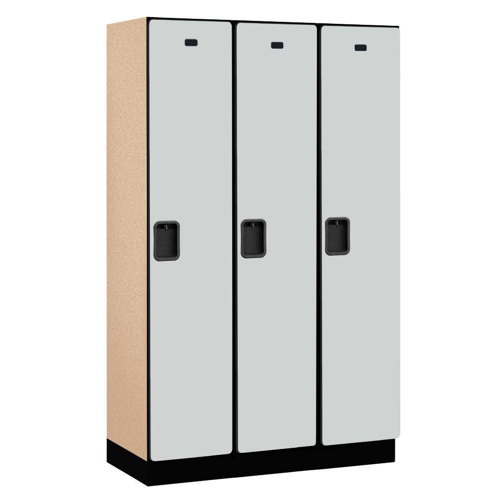 21000 Series 1-Tier Wood Extra Wide Designer Locker in Gray -