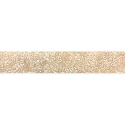 Augustus Ivory 1.75 in. x 10 in. Porcelain Floor and Wall Tile (2.42 sq. ft. / case)