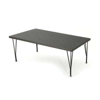 Kailyn Grey Rectangular Wicker Outdoor Dining Table