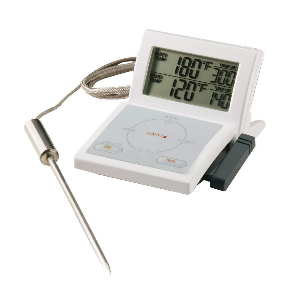 Maverick 2-in-1 White LCD Food Thermometer