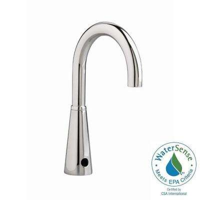 Selectronic Proximity Gooseneck Spout Multi AC Powered Single Hole Touchless Bathroom Faucet in Polished Chrome