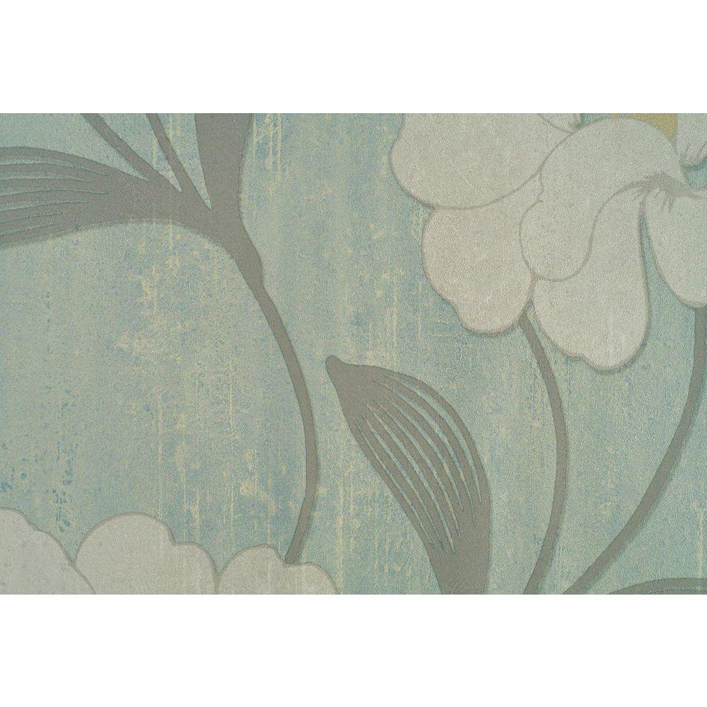 Light Beige Accent Tropical Floral Print Wallpaper