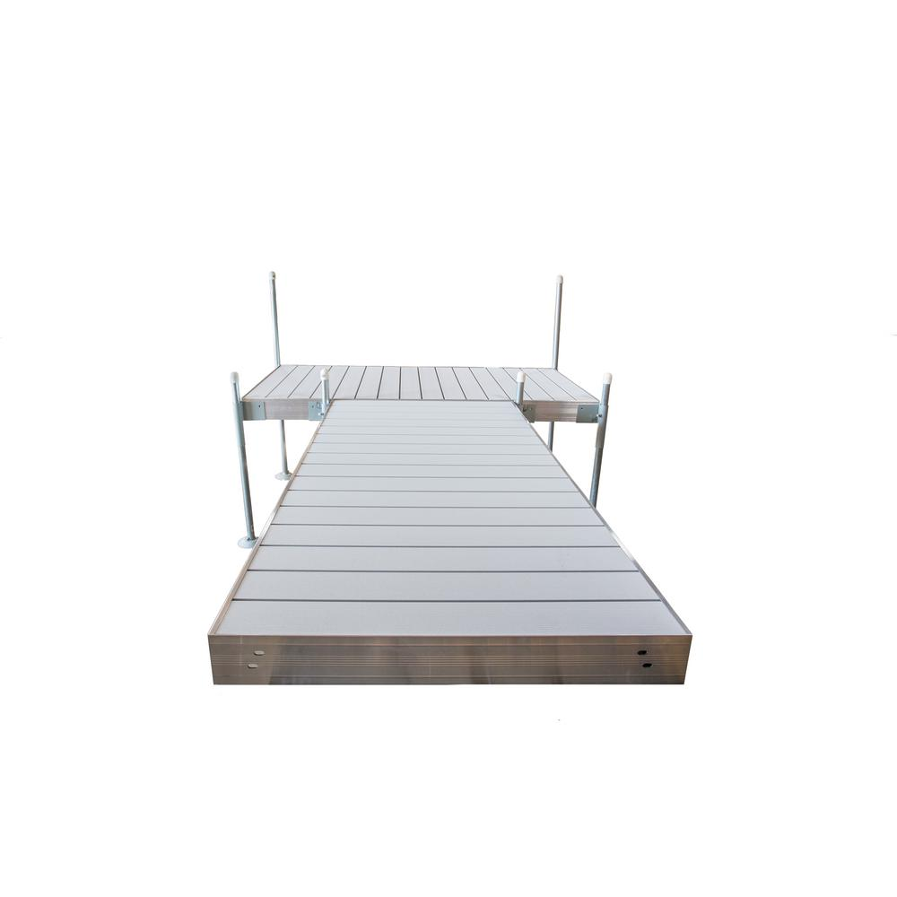 Tommy Docks 12 ft. T-Style Aluminum Frame with Aluminum Decking Platinum Series Complete Dock Package