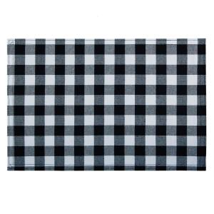 Buffalo Check 18 in. x 12 in. Blacks Black/White Checkered Cotton/Polyester Placemats (Set of 4)