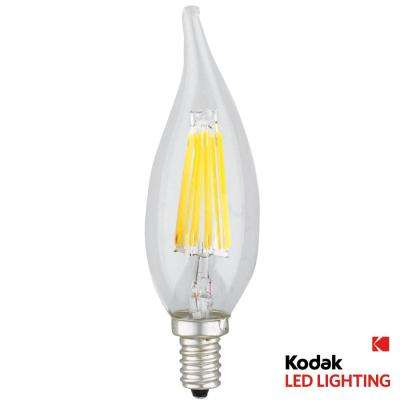 55W Equivalent Warm White E12 Candle Flame Dimmable LED Light Bulb