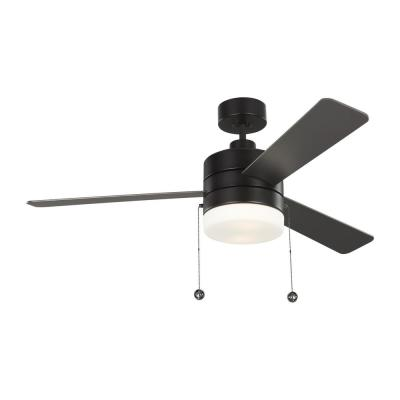 Syrus 52 in. LED Oil Rubbed Bronze Ceiling Fan with Light Kit and Pull Chain Operation