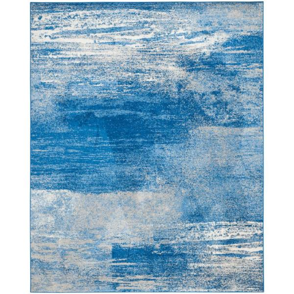 Adirondack Silver/Blue 8 ft. x 10 ft. Area Rug