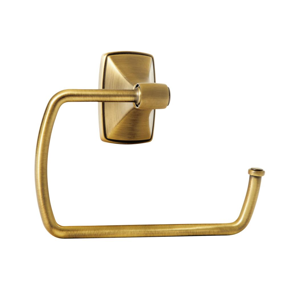 Clarendon Towel Ring in Gilded Bronze