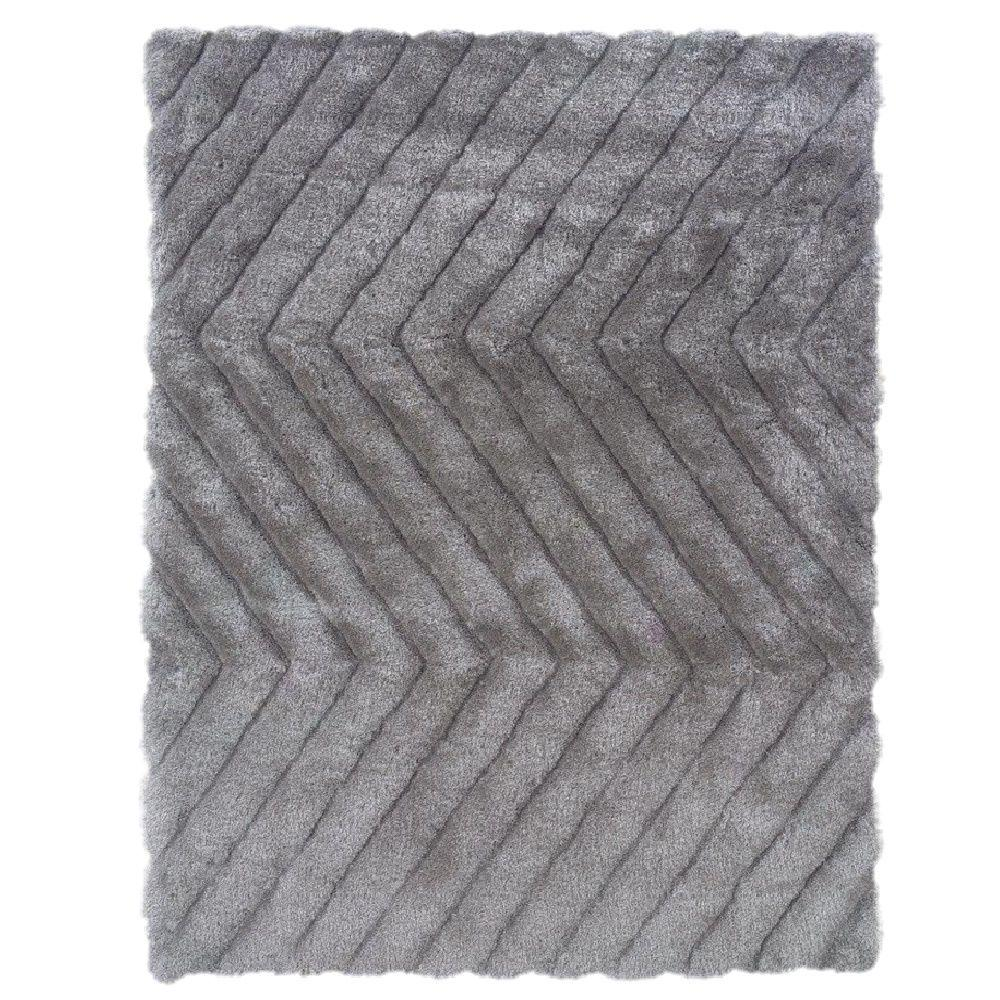Links Collection Grey ZigZag 8 ft. x 10 ft. Indoor Area