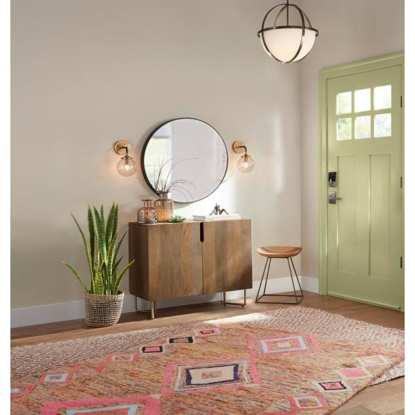 Feiss Johnson 28 5 In W Round Circle Glass Wall Decor Mirror With 2 In W Oil Rubbed Bronze Frame And Beveled Edge With Hooks Mr1127orb The Home Depot