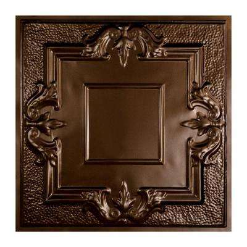 Niagara 2 ft. x 2 ft. Lay-in Tin Ceiling Tile in Bronze Burst
