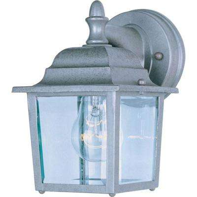 Builder Cast 1-Light Pewter Outdoor Wall Mount
