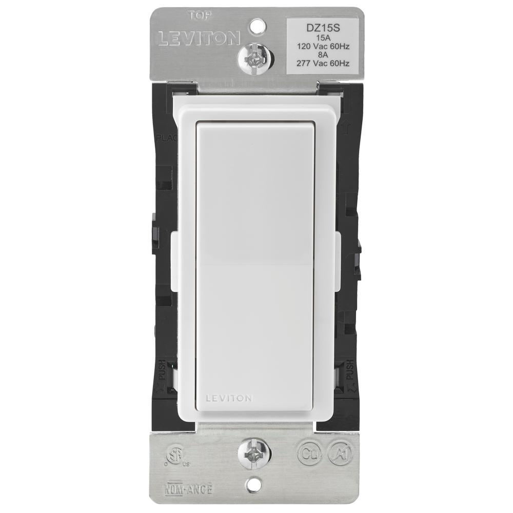 Leviton Decora Smart with Z-Wave Technology 15 Amp Switch, White ...