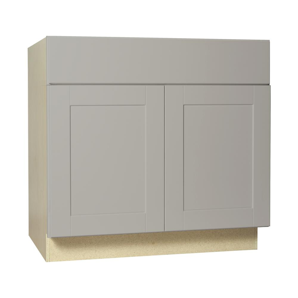 Hampton Bay Shaker Assembled 36x34.5x24 In. Accessible