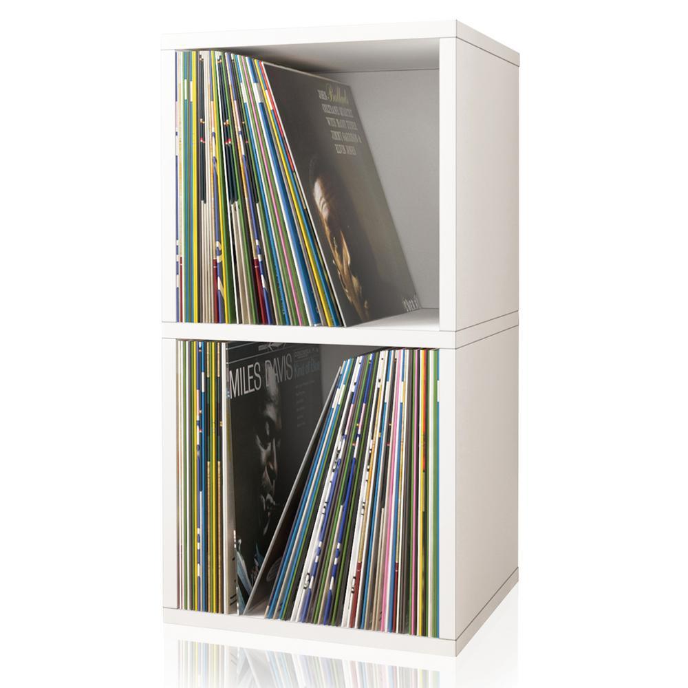 zBoard White 2-Shelf Vinyl Record and LP Record Album Storage Shelf