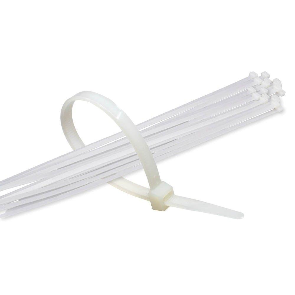 11 in. White Nylon Cable Tie (500-Piece)