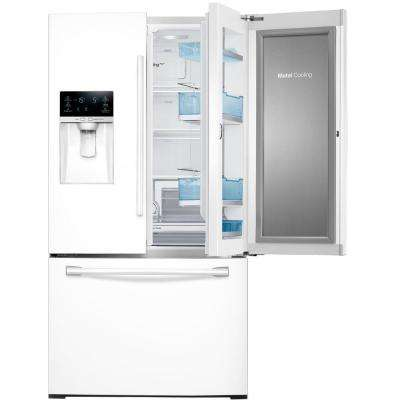 27.8 cu. ft. Food Showcase French Door Refrigerator in White