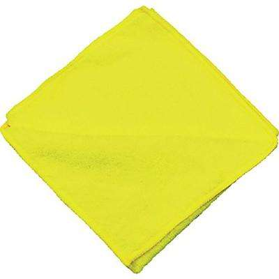 16 in. x 16 in. Yellow Microfiber Cleaning Towel (Pack of 12)