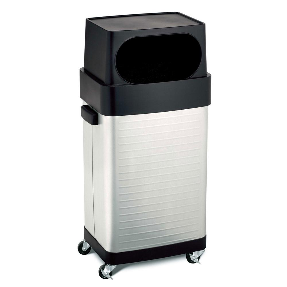 white rubbermaid with list lids restaurant garbage equipment can double kitchen aura large cans trash