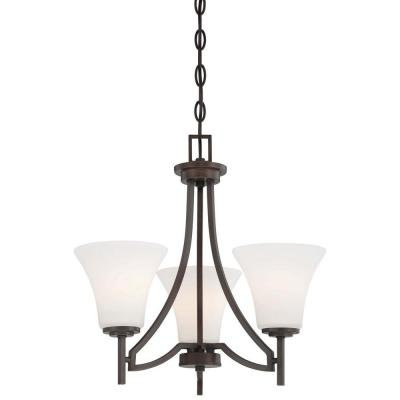 Middle Brook 3-Light Vintage Bronze Mini Chandelier