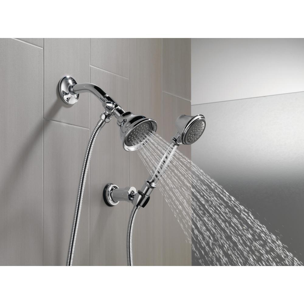 Delta Shower Arm Diverter For Handshower In Chrome U4922 Pk The Home Depot